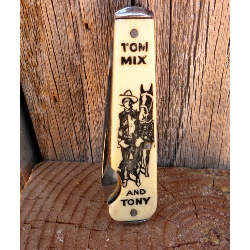 Tom Mix and Tony Early 1930's Pocket Knife