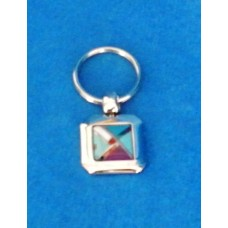 Traditional South Western Design Square Pendant Key Fob. Native American Style.