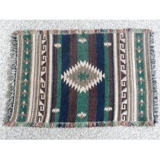"Jaquard Cotton Placemat with South Western Diamond Hand woven design.13"" x 19""(33 x 48cm)"