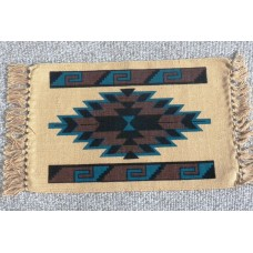 "Cotton Stenciled South West Aztec Design Placemat 13"" x 19"" (33 x 48cmcm)"