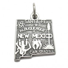 Sterling Silver New Mexico State Fob or Charm