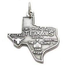 Sterling Silver Texas State Fob or Charm