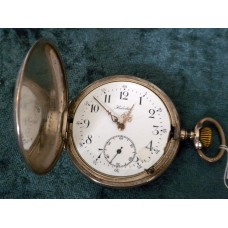 Vintage 1930's Helvetia Pocket Watch in Full Hunter Silver Case