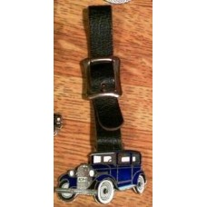 1928 Chevrolet Watch Fob With Leather Strap.